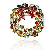 Недорогие -Муж. Жен. Броши Синтетический алмаз Гипоаллергенный Рождество Сплав Круглый Бижутерия Назначение Рождество Подарок