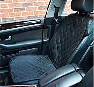Собака Чехол для сидения автомобиля Животные Коврики и подушки Однотонный Компактность Складной Черный
