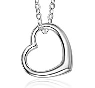 Недорогие -Жен. Сердце Chrismas Ожерелья с подвесками Стерлинговое серебро Ожерелья с подвесками , Повседневные