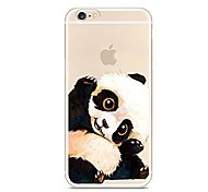 Pour iPhone 7 iPhone 7 Plus Etuis coque Ultrafine Translucide Motif Coque Arrière Coque Animal Panda Flexible PUT pour Apple iPhone 7