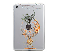 cheap -Case For Apple iPad Mini 4 iPad Mini 3/2/1 iPad 4/3/2 iPad Air 2 iPad Air iPad (2017) Transparent Pattern Back Cover Christmas Animal Soft