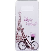 Case for Samsung Galaxy Note 8 Note 5 Eiffel Tower Transparent Pattern Back Cover Soft TPU Case