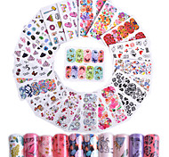 45 Nail Art Sticker  Pattern Accessories Art Deco/Retro Water Transfer Sticker Water Transfer Decals 3-D Sticker DIY Supplies Makeup