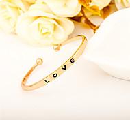Недорогие -Муж. Жен. Браслет разомкнутое кольцо Бижутерия Открытые Простой стиль Сплав Круглой формы В форме сердца Бижутерия Назначение Для