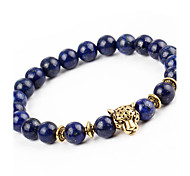 cheap -Men's Women's Bracelet Strand Bracelet Onyx Natural Fashion Alloy Round Leopard Jewelry Gift Holiday Costume Jewelry Dark Blue