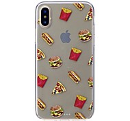 Недорогие -Кейс для Назначение Apple iPhone X iPhone 8 Защита от удара Ультратонкий С узором Кейс на заднюю панель Продукты питания Мягкий ТПУ для
