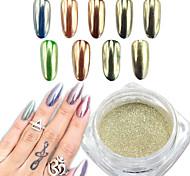 0.5g/Bottle  Silver Mirror Effect Nail Art  Powder  Chrome Pigment Glitter