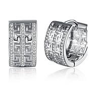 Women's Hoop Earrings Cubic Zirconia AAA Cubic Zirconia Fashion Personalized Zircon Cubic Zirconia Circle Geometric Jewelry For Gift Daily
