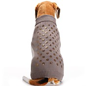 Cat Dog Coat Sweater Dog Clothes Party Casual/Daily Cosplay Keep Warm Wedding Halloween Christmas New Year's Sequins Gray
