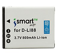 Недорогие -ismartdigi dli88 3.7v 800mah камера аккумулятор для pentax d-li88 optio w80 w90 h90 ws80 p70 p80