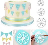 abordables -3 pcs / set triangle drapeau cutter moule côté sugarcraft fondant gâteau décoration décoration