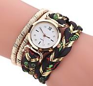 Mulheres Relógio de Moda Bracele Relógio Simulado Diamante Relógio Chinês Quartzo imitação de diamante PU Tecido Banda Boêmio Casual