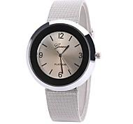Damen Kleideruhr Modeuhr Armbanduhr Chinesisch Quartz Legierung Band Charme Freizeit Elegant Schwarz Weiß Blau Braun