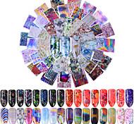 Недорогие -80 Стикер искусства ногтя С рисунком Аксессуары Ар деко / Ретро 3-D Мультфильмы Компоненты для самостоятельного изготовления Стикер