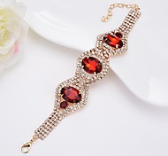 Women's Bangles Crystal Rhinestone Simple Style Elegant Crystal Alloy Oval Jewelry For Casual Formal