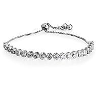 Women's Tennis Bracelet AAA Cubic Zirconia Adjustable Copper Geometric Jewelry For Wedding