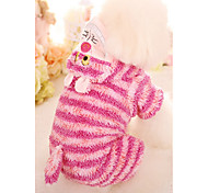 Dog Clothes/Jumpsuit Dog Clothes Casual/Daily Stripe Blue Blushing Pink