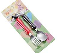 Недорогие -2 шт. / Комплект из нержавеющей стали детские вилки и ложка посуда ужин