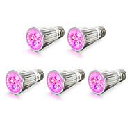 E14 E27 Luz de LED para Estufas 5 LED de Alta Potência 450-550 lm Vermelho Azul K V