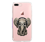 Para iPhone 7 iPhone 7 Plus Carcasa Funda Ultrafina Transparente Diseños Cubierta Trasera Funda Elefante Suave TPU para Apple iPhone 7