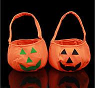 cheap -New Halloween Party Supplies Non-Woven Fabrics Pumpkin Bags Halloween Props Kids Children Toys Candy Bag