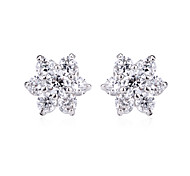 Women's Stud Earrings Crystal AAA Cubic Zirconia Cute Style Fashion Punk Personalized Cross Cubic Zirconia Silver Plated Star Jewelry For