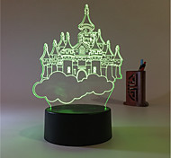 cheap -1set 3D Nightlight USB Battery Color-Changing Decorative