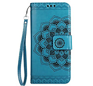 Funda Para Samsung Galaxy J7 (2017) J5 (2017) J3 (2017) Cartera Soporte de Coche Flip En Relieve Diseños Cuerpo Entero Mandala Flor Dura