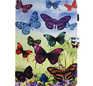 cheap -Case For Apple iPad 4/3/2 iPad Air 2 iPad Air Card Holder Wallet with Stand Flip Pattern Full Body Cases Butterfly Hard PU Leather for