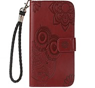 For Case Cover Card Holder Wallet with Stand Flip Embossed Pattern Full Body Case Owl Hard PU Leather for Sony Sony Xperia XA Ultra