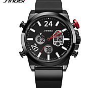 SINOBI Men's Sport Watch Fashion Watch Japanese Digital LED Calendar Water Resistant / Water Proof Noctilucent Large Dial Silicone Band