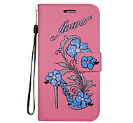 For Case Cover Card Holder Wallet with Stand Flip Pattern Full Body Case Flower Glitter Shine Hard PU Leather for Nokia Nokia 6 Nokia 5