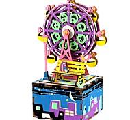 Набор для творчества музыкальная шкатулка Игрушки Знаменитое здание Дерево Куски Для детей Универсальные День рождения День Святого