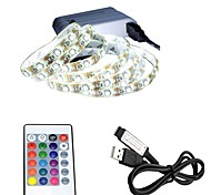 USB Power Supply RGB LED Strip light lamp 50CM 2W 30leds 3528SMD RGB Light LED Strip Lamp DC5V For TV Background Lighting 1set