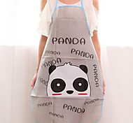 High Quality Panda Pattern Cute Gray Kitchen Bathroom Car Apron,Pvc