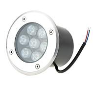 1PCS HKV® 7W IP67 LED Underground Light Lamp Waterproof High-Power Tempered Glass Outdoor Garden Square Landscape DC 12V