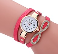 Women's Fashion Watch Simulated Diamond Watch Bracelet Watch Chinese Quartz PU Band Elegant Casual Black White Blue Red Brown Grey Pink