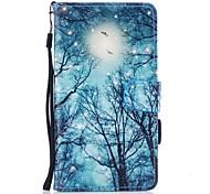 Недорогие -Кейс для Назначение Huawei P10 Lite Кошелек Бумажник для карт со стендом Флип С узором Магнитный Чехол дерево Твердый Искусственная кожа
