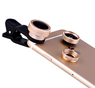 XIHAMA Mobile Phone Lens  Fish-Eye Lens Wide-Angle Lens Macro Lens Aluminium Alloy For Android iPhone