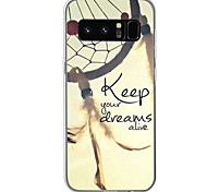 Case For Samsung Galaxy Note 8 Pattern Back Cover Word / Phrase Dream Catcher Soft TPU for Note 8 Note 5 Edge Note 5 Note 4 Note 3 Lite