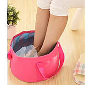 cheap -Textile Plastic Oval Waterproof Pouches Portable Travel Home Organization, 1pc Laundry Bag & Basket