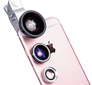 BANNER Mobile Phone Lens 180 Fish-Eye Lens 0.4X Wide-Angle Lens 12.5X Macro Lens Aluminium Alloy Glass For Android Cellphone iPhone