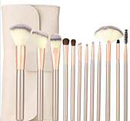 YZIMENG® 12pcs Makeup Brush Set with Bag Foundation/Concealer/Blush/Eyeshadow/Eyeliner/Lip/Brow Synthetic Hair Professional Travel Make Up for Face