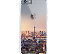 For iPhone 7 iPhone 7 Plus Case Cover Ultra-thin Transparent Pattern Back Cover Case Eiffel Tower City View Soft TPU for Apple iPhone 7
