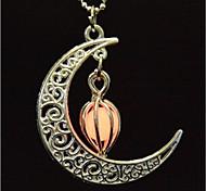 cheap -Women's Luminous Moon Pendant Necklace - Fashion / Illuminated / Fluorescent Orange / Light Blue / Light Green Necklace For Halloween /
