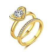 Per donna Fedine Nail anelli di barretta Anello a metà dito Zircone cubico Geometrico stile sveglio Zirconi Argento placcato Placcato in
