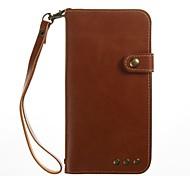 cheap -Case For LG K8 LG LG K4 Card Holder Wallet Flip Full Body Cases Solid Color Hard PU Leather for LG K10 (2017) LG G6