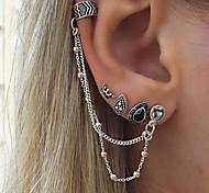 cheap -Women's Bohemian Drop Crown Clip Earrings / Mismatch Earrings - Personalized / Vintage / Bohemian Silver Crown Earrings For Gift / Casual