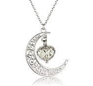 cheap -Men's Women's Luminous Pendant Necklace  -  Luminous Illuminated Statement Round Silver Necklace For Halloween Club