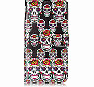 For Case Cover Card Holder Wallet with Stand Flip Pattern Full Body Case Skull Hard PU Leather for Motorola Moto G5 Plus Moto G5 Moto C